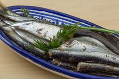 Salted anchovy Stock Photos