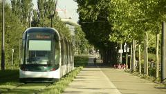 Tramway in Strasbourg Stock Footage
