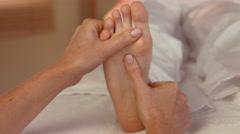Stock Video Footage of Woman enjoying a foot massage