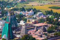 Towers of Lord Bhakthavatsaleswara r Temple - stock photo