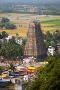 Towers of Lord Bhakthavatsaleswara r Temple Stock Photos