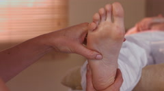 Stock Video Footage of Woman enjoying a foot massage