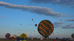 Flying hot air Balloons 18  - Large view 3  Stock Footage