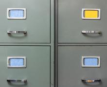 Old steel filing cabinet Kuvituskuvat