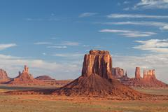 Monument Valley Navajo Tribal Park at sunrise Stock Photos
