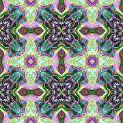 Seamless kaleidoscope texture or pattern colorful spectrum 1 - stock illustration