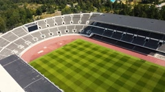 Arial view of the Helsinki historical stadium of 1952 summer Olympic games Arkistovideo