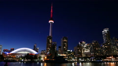 Toronto Skyline Smooth Motion Night 4 Stock Footage