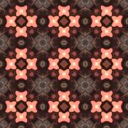 Seamless kaleidoscope texture or pattern in brown and pink - stock illustration