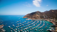 Time Lapse - Cloudscape Moving Over Catalina Island, California, USA Stock Footage