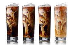 Iced coffee set - stock photo