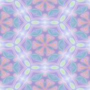 Seamless kaleidoscope texture or pattern in pastel colors 1 - stock illustration