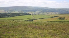 View to Dunkery Hill the highest point on Exmoor Somerset England UK Stock Footage