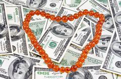 Amber necklace Stock Photos