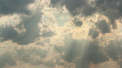 Summer sky timelapse with clouds - stock footage