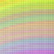 Pixelated mosaic background in yellow, blue, pink Stock Illustration