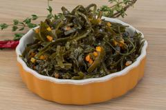 Laminaria salad - stock photo