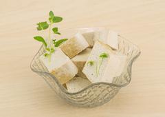 Tofu - soya cheese - stock photo