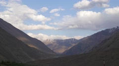 TIMELAPSE Tabo village and monastary with clouds and shadows,Tabo,Spiti,India Stock Footage
