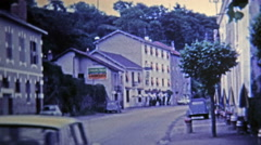 1969: French countryside hotel where peace and comfort are met. Stock Footage