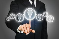 Brainstorming idea - stock illustration