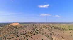 Telecommunication cell tower in the country Stock Footage
