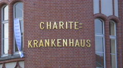 Charite University Hospital in Berlin Stock Footage