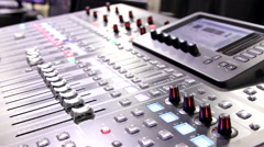 Lighting Control Console for LAN Gaming Event - stock footage