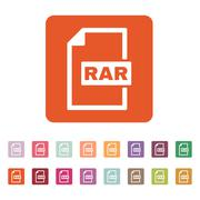 The RAR file icon. Archive and compressed symbol - stock illustration