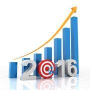 Growth target 2016 - stock illustration