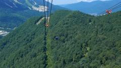 Gazprom cableway. Sochi, Russia. 1280x720 Stock Footage