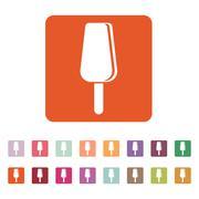 The ice cream icon. Dessert and popsicle, refreshing symbol. Flat Stock Illustration