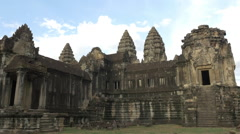 Time Lapse - Temple Ruins - Angkor Wat Temple Stock Footage