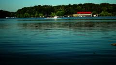 Stock Video Footage of Lake, Kayaking,  Coach