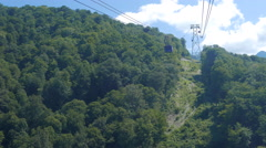 Cable lift Gazprom. Sochi, Russia. 4K Stock Footage