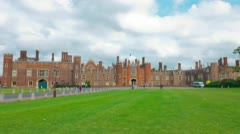 Hampton Court Palace, old royal palace in London Stock Footage