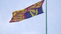 Royal Standard flag waving in Berlin Stock Footage