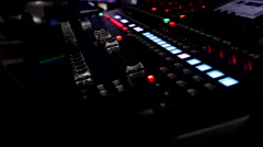 Stock Video Footage of Lighting Control Console for LAN Gaming Event