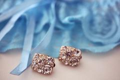 Crystals earrings Stock Photos