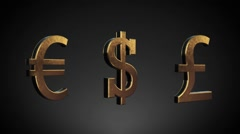 Money currency luxury symbol, with alpha channel Stock Footage