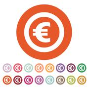 The euro icon. Cash and money, wealth, payment symbol. Flat - stock illustration
