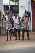 MADURAI, INDIA-FEBRUARY 15: Indian worker on February 15, 2013 in Madurai, In - stock photo
