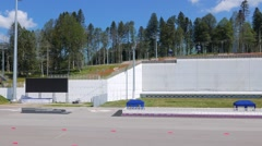 Shooting Stadium Laura. Sochi, Russia. 1280x720 Stock Footage
