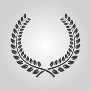 The laurel wreath icon. Prize and reward, honors symbol. Flat - stock illustration