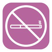 No smoke icon. Stop smoking symbol. Vector - stock illustration