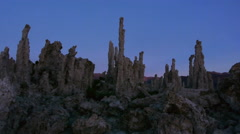 Time Lapse of Sunrise over Tufa Formations at Mono Lake, California - stock footage