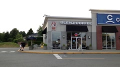 One side of Blenz Coffee in Pitt Meadows Canada. - stock footage