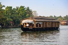 Stock Photo of KOCHIN, INDIA-FEBRUARY 23: Indian houseboat on February 23, 2013 in Kochin, I