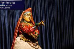 KUMILY, INDIA-FEBRUARY 19: Kathakali show19, 2013 in Kumily, India. Present - stock photo