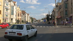 Traffic on a boulevard in Sibiu Stock Footage